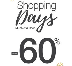 Shopping days, muebles y decoración hasta el 60%.