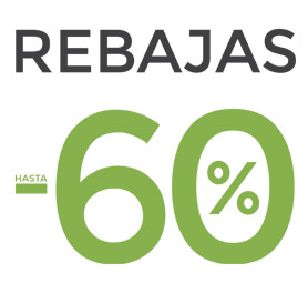 RE - BA - JAS  hasta el 60%
