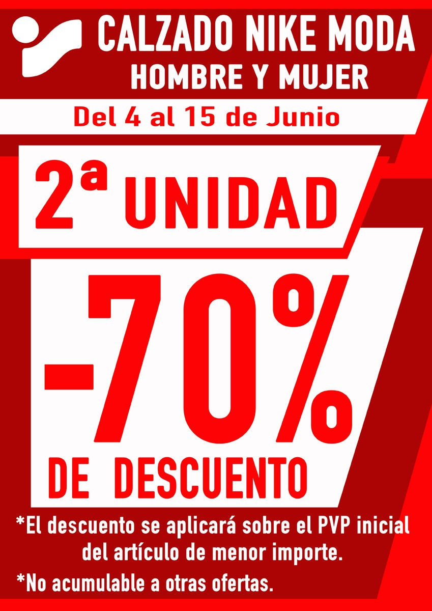 2° Unidad de zapatillas Nike al 70% Ofertas Ourense